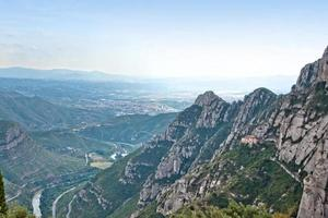 berg nära montserrat. Katalonien, Spanien foto