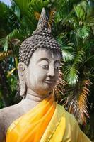 Buddha av statyn i Ayutthaya Thailand