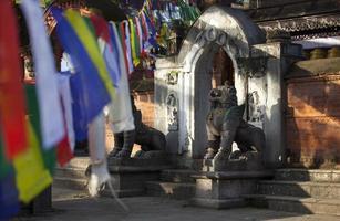 gammalt tempel i Katmandu foto