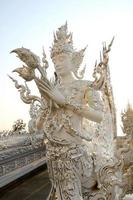 buddhistisk konst vid wat rong khun, chiang rai foto