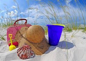 strandväska och tillbehör foto