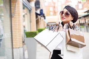 shopping tjej