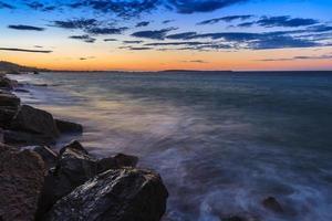 soluppgång strand foto