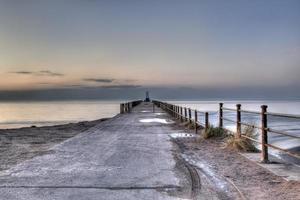 maryport brygga med hög kontrast foto