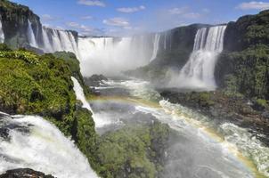 djävulens hals med regnbåge vid iguazufallen, Brasilien