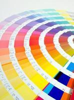 styrhjulet i färgsystemet foto