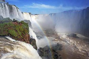 garganta del diablo vid iguacu falls, brasilianska sidan