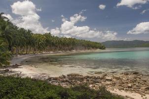 strand. port barton, palawan, filippinerna foto