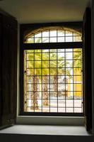 landskap bakom fönstret foto