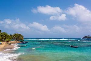 vackert karibiskt vatten foto