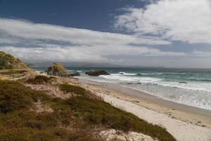 ensam strand, norra ön, Nya Zeeland