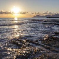 soluppgång på havet. Mallorca