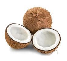 kokosnötter isolerad på vit bakgrund foto