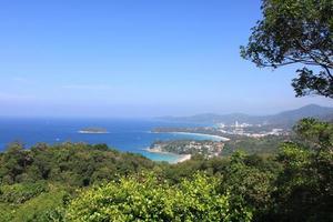 tropiskt landskap. från synvinkel foto