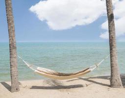 hängmatta på stranden 1 foto