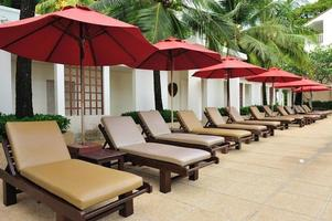 tropisk strandstol foto