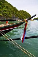 Asien i Koh Phangan Isle White Beach stenar båt foto