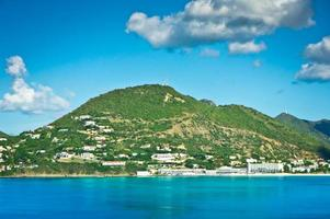 panorama av philipsburg, saint martin, karibiska islan