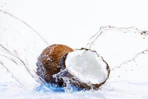 sprucken kokosnöt