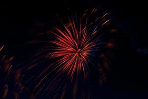 fyrverkeri firande för 4 juli foto
