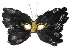 fjäril fjäder mask