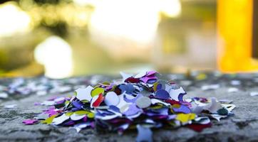 Venedigs konfetti foto