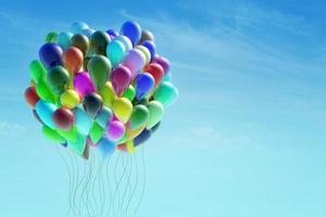 grupp färgglada ballonger foto