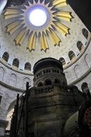 rotunda ovanför edicule i kyrkan av heliga graven foto
