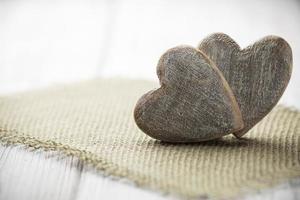 rustik hjärta. foto