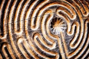 trä labyrint foto