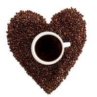 hjärta kaffe