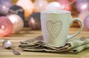 kopp med hjärta foto