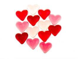 färgglada röda tandkött hjärtan foto
