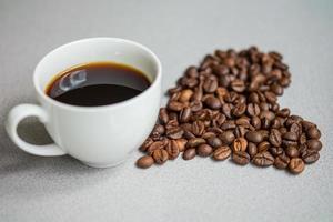 hjärtformade kaffebönor