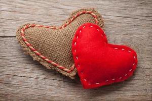 Alla hjärtans dag leksak hjärtan foto