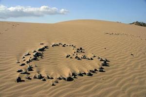 hjärta i sanddynerna