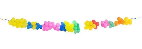 grupp färgglada ballonger