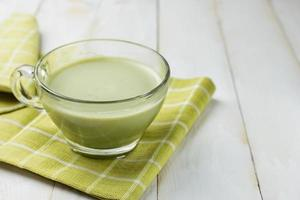 grönt te latte foto
