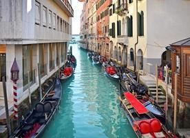 vacker vattengata - Venedig, Italien foto