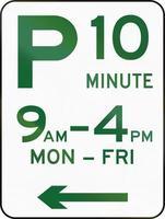 tio minuters parkering i Australien