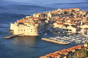 gammal hamn i dubrovnik, kroatien foto