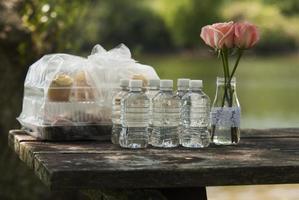 muffins och vatten foto