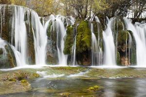 pil bambu vattenfall foto