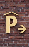 parkera här foto