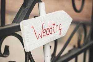 vacker bröllopspekare foto