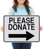 Vänligen donera