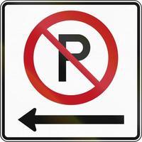ingen parkering till vänster i Kanada foto