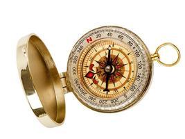öppen kompass foto