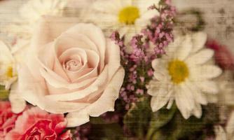 texturerade blommor foto