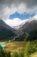 Italien - Schweiz - det röda tåget Bernina Express foto